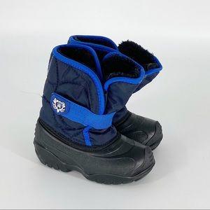 KAMIK Winter Snow Boots Baby Boy 9 Blue Black